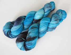 blue yarn for textile crafts like knitting weaving and crochet