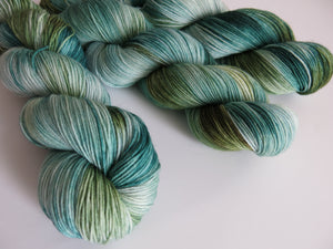 hand dyed sock yarn inspired by new mexico sage
