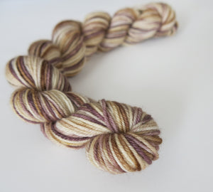 tonal brown sock yarn mini skein by my mama knits