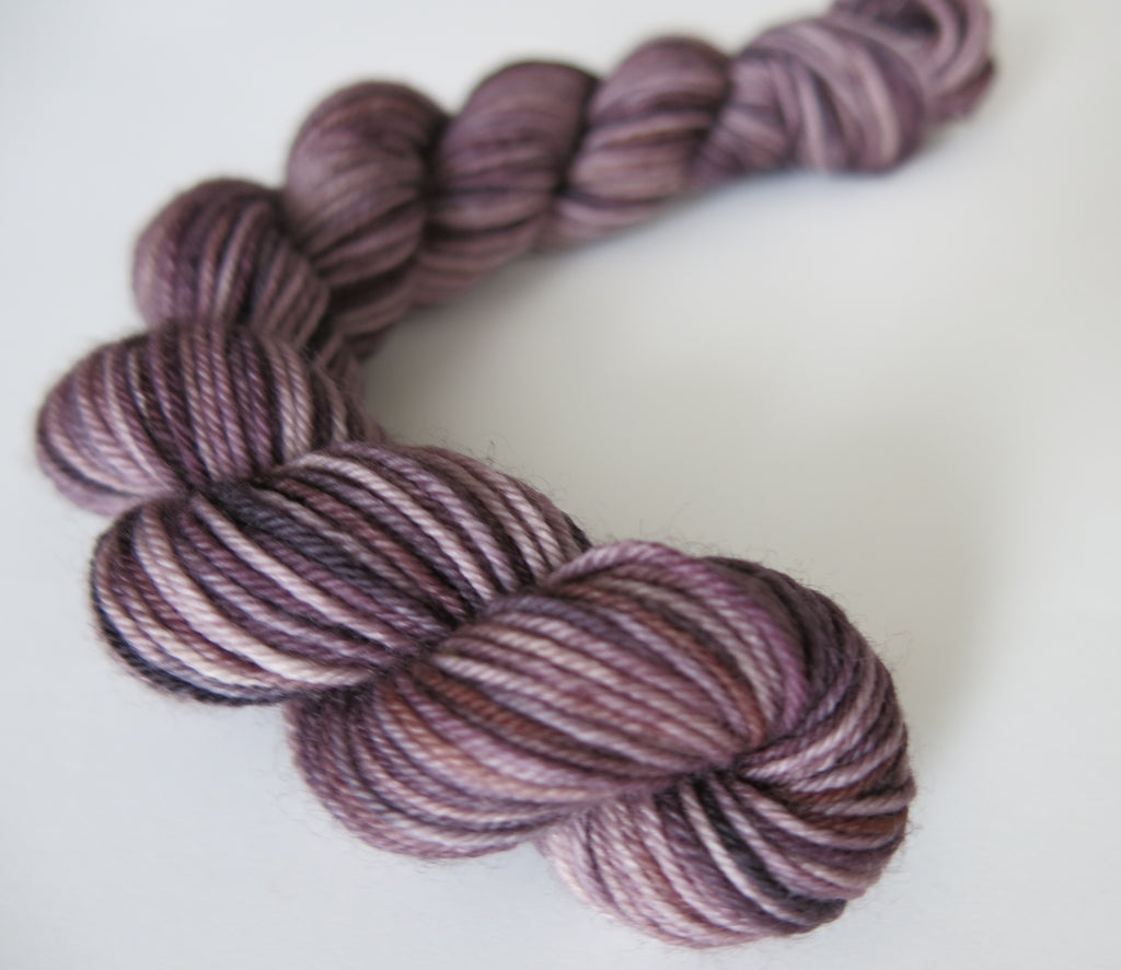 espresso brown coloured mini skein for knitting and crochet