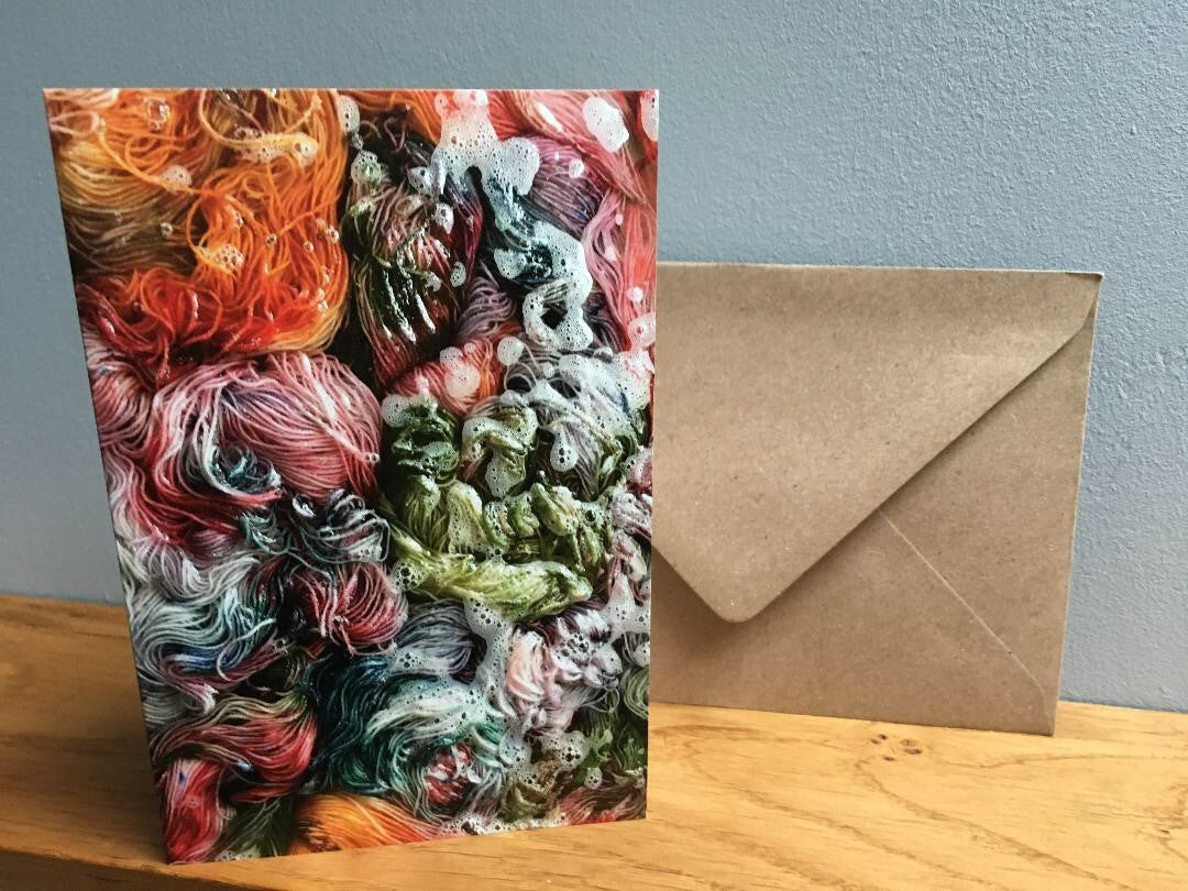 hand dyed yarn greeting card stationary set