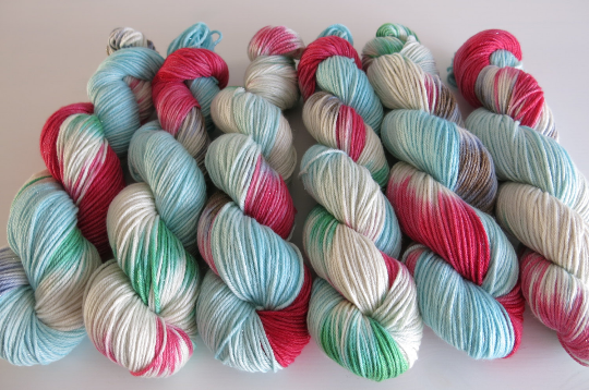 youll shoot your eye out kid hand dyed christmas yarn