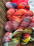 indie dyed fading point five skein sock yarn set