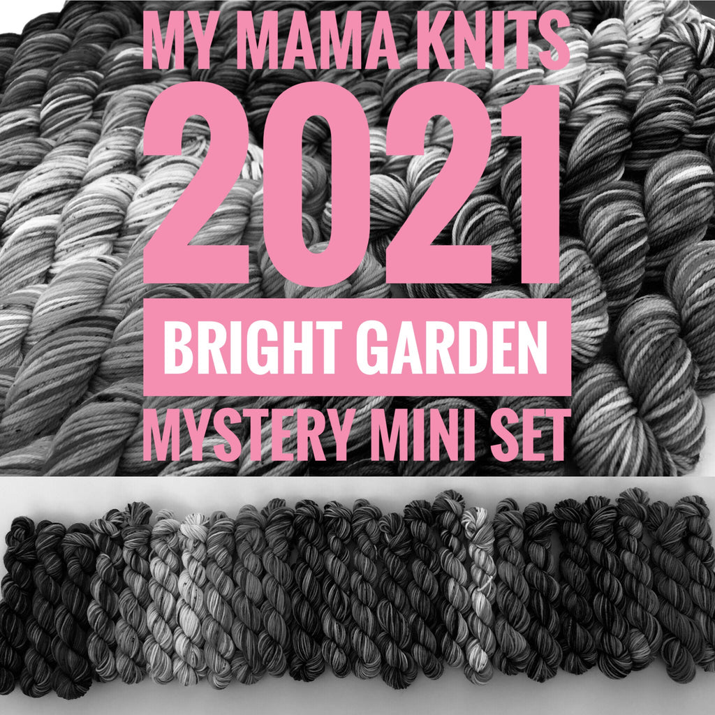 2021 Monthly Mystery Set on Choufunga Sock - Bright Garden