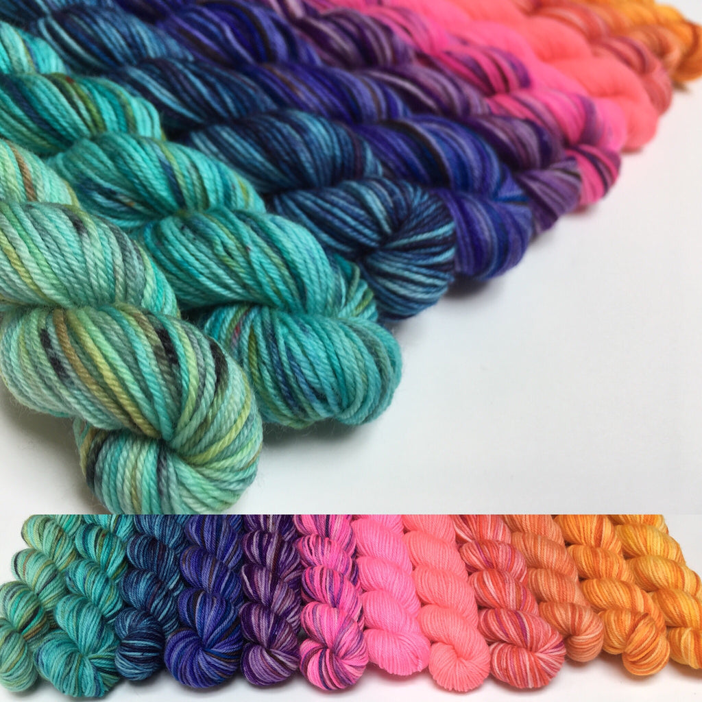 12 x 20g Mini Skein Set on Choufunga Sock