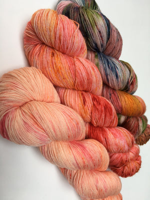 hand dyed sock yarn with nylon