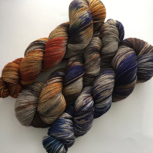 Single Batch Yarn Trio on Don't Talk Back Sock