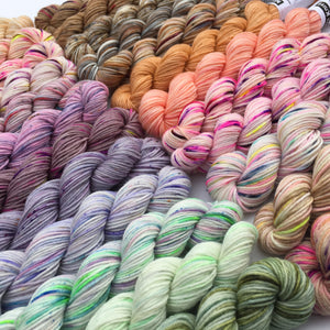 2020 Pastels - 24 Colour Mini Skein Set on Choufunga Sock for Shawls and Advent KALs