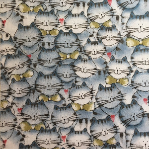 Made to Order - Cat Print - Cotton Double Layered Face Masks
