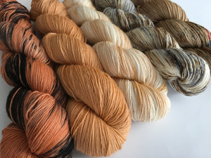 indie dyed merino sock yarn fade kit with five 100g skeins