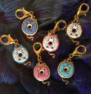 Doughnut Cats Stitch Marker or Clasp Place Keeper