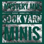 mystery mix sock yarn mini skeins for knitting and crochet