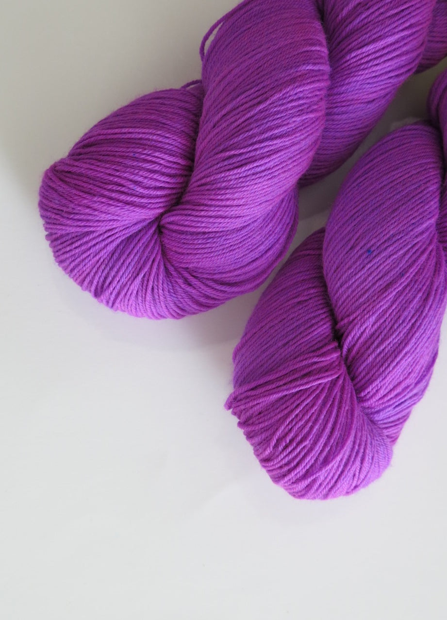 bright purple sock yarn for shawls and sock knitting and crochet