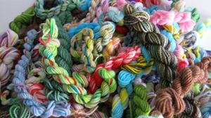 Random Mix Mini Skein Sock Runts on a variety of bases
