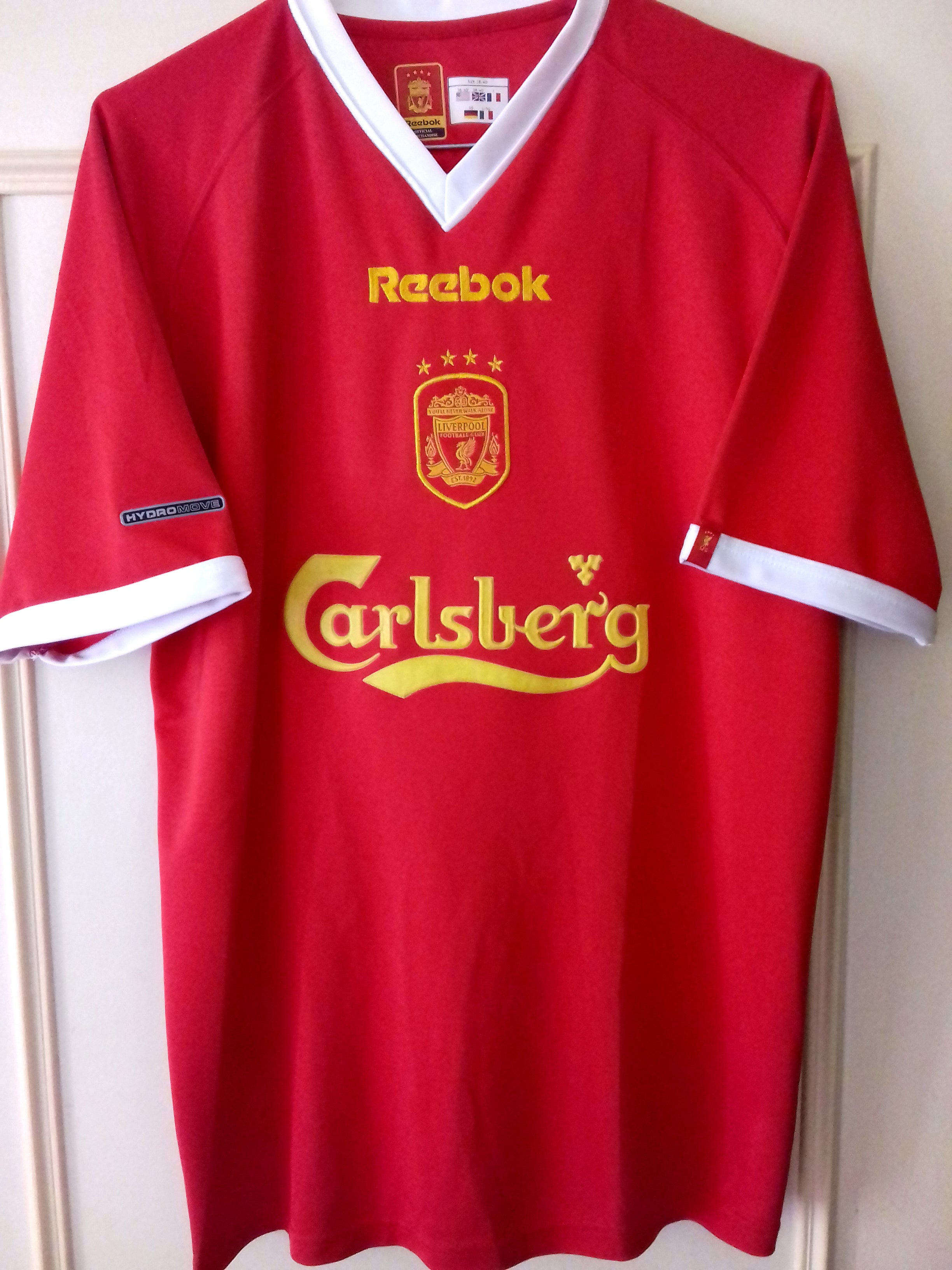 pretty nice 7f329 158ac Football Shirt Jersey Liverpool Home European Cup - 2001/2003 - 38