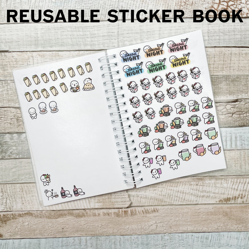 Paint Palette Sticker Album and Reusable Sticker Book