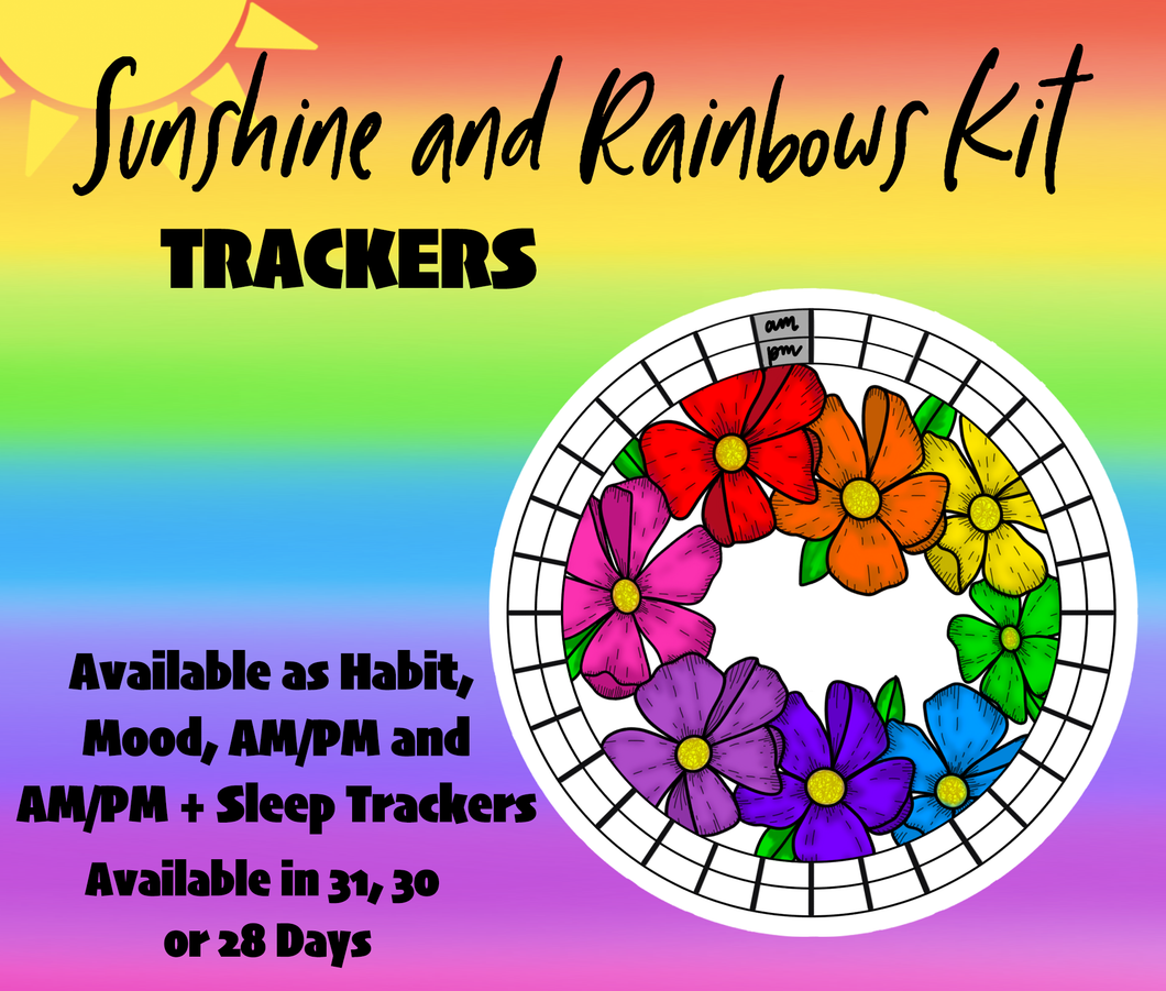 Sunshine and Rainbow Kit Circle Trackers