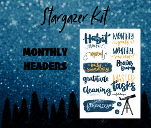 Stargazer Monthly Sticker Kit