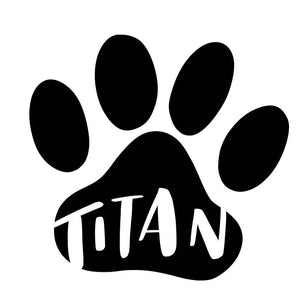 Personalized Paw Print Vinyl Decal Sticker