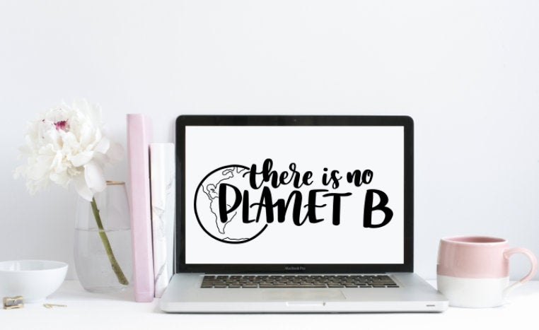 No Planet B Cut File Large - SVG5
