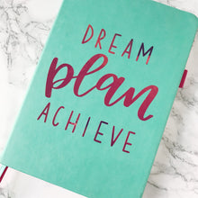 Dream, Plan, Achieve Handlettered Vinyl Planner Sticker