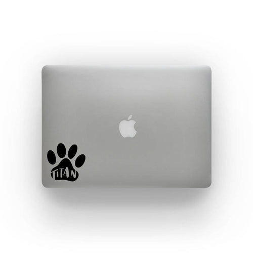 Personalized Paw Print Vinyl Sticker - VY3