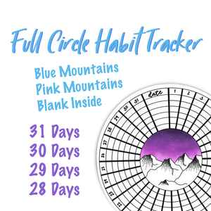 Full Circle Habit Tracker Sticker - TR9
