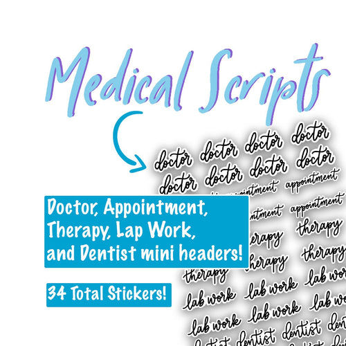Medical Script Planner Stickers