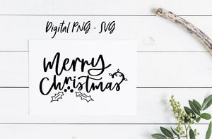 Merry Christmas Digital Download - SVG12