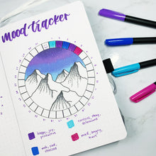Monthly Mood Circle Tracker for Bullet Journal