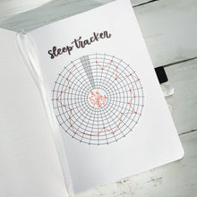Sleep Circle Line Graph Tracker for Bullet Journal