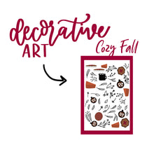 Cozy Fall Theme Monthly Planner Sticker Kits, Bullet Journal Sticker Kits, Stickers for Planners, Monthly Journal Stickers