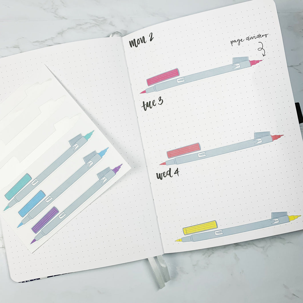 Marker Large Page Divider Stickers - ST32