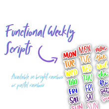 Functional Weekly Variety Stickers | Rainbow Planner Stickers