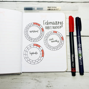 Mini Circle Habit Tracker Stickers - TR10