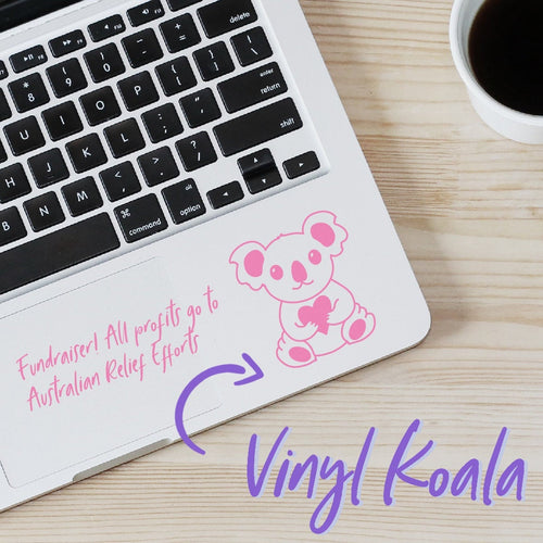 Mini Koala Fundraiser Vinyl Decal Sticker