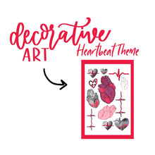 Anatomical Heart and Heartbeat Sticker Kit
