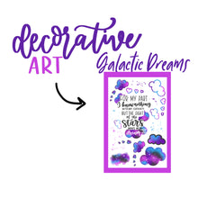Galactic Dreams Theme Monthly Planner Sticker Kits, Bullet Journal Sticker Kits, Stickers for Planners, Monthly Journal Stickers