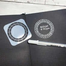 Mini Circle Habit Tracker Stencil - S8