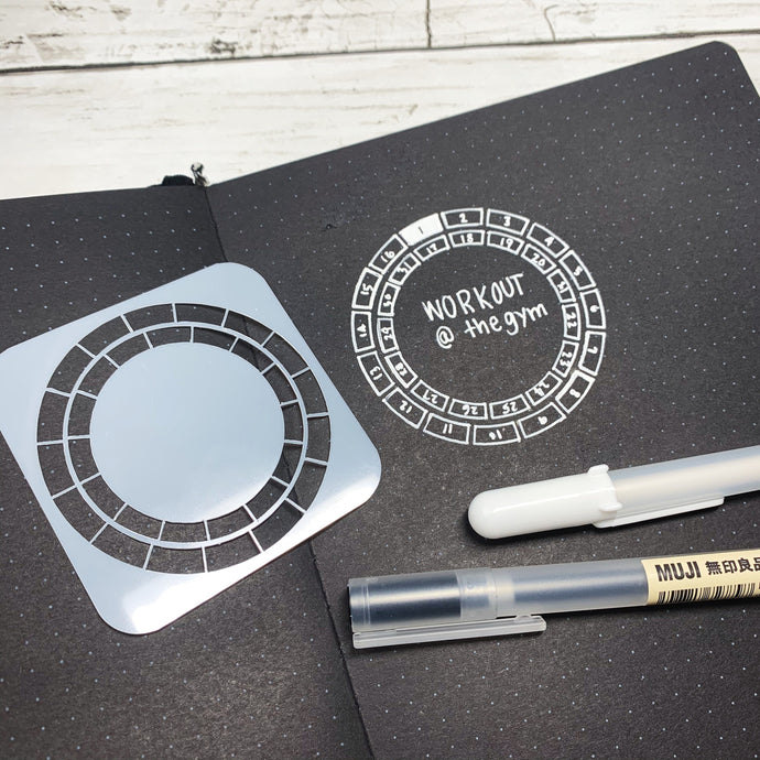 Mini Circle Habit Tracker Stencil for Bullet Journal