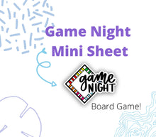 GAME NIGHT Script and Doodle Stickers | Planner Sticker, Game Night Sticker, Board Game Stickers, Bullet Journal Stickers