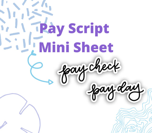 Pay Check/Pay Day Script Stickers - SC8