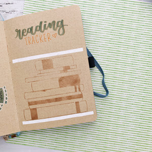 Reading Tracker Bullet Journal Stencil - S5