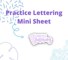 Practice Lettering Script and Doodle Stickers - DD17