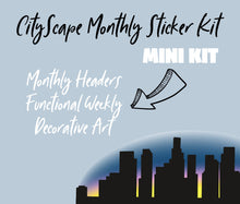 CITYSCAPE THEME Monthly Planner Sticker Kits, Bullet Journal Sticker Kits, Stickers for Planners, Monthly Journal Stickers
