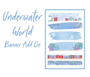 Underwater World Theme Monthly Planner Sticker Kits, Bullet Journal Sticker Kits, Stickers for Planners, Monthly Journal Stickers