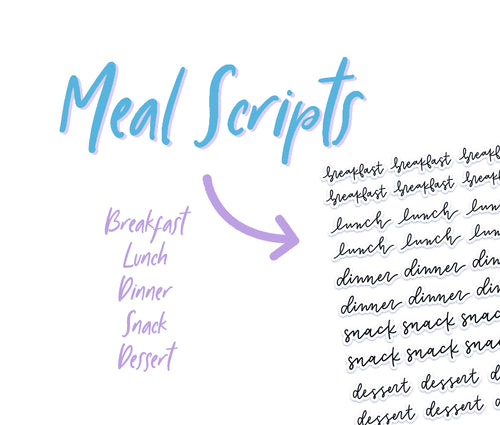 Meal Script Stickers - SC3
