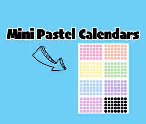 Mini Pastel Habit Tracker and Calendar Stickers - TR11