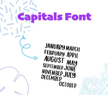 Monthly Foil January-December Scripts -
