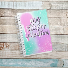 Spraypaint Sticker Album and Reusable Sticker Book